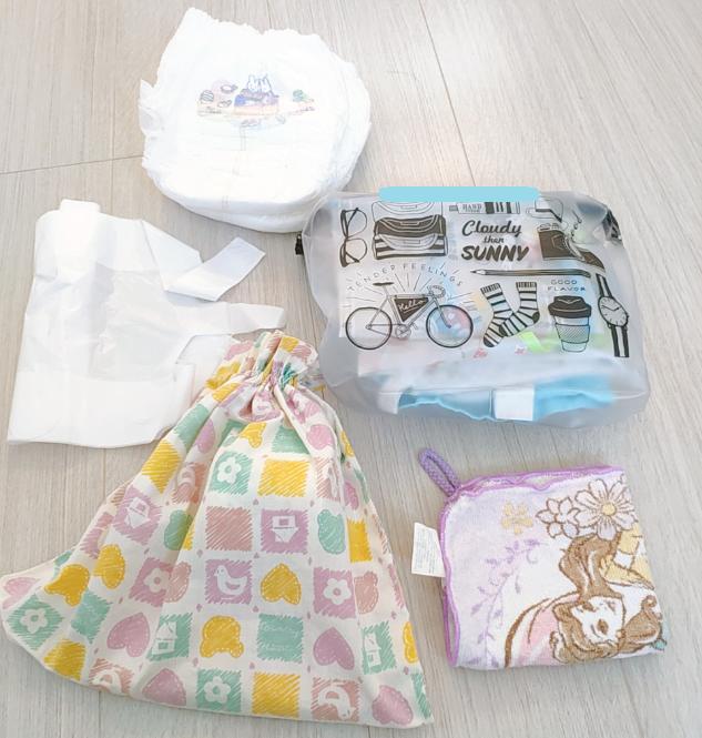 1歳の荷物