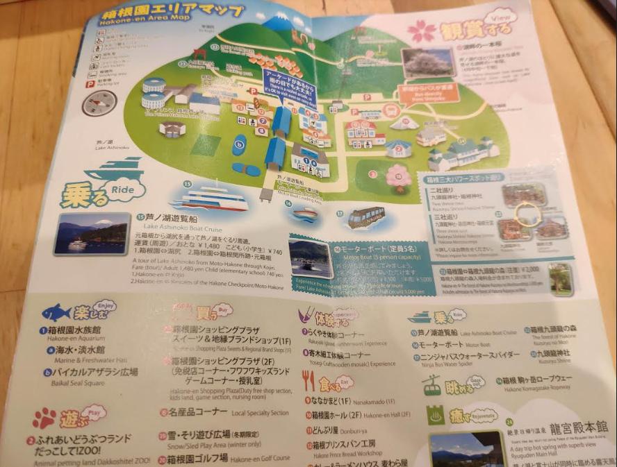箱根園マップ