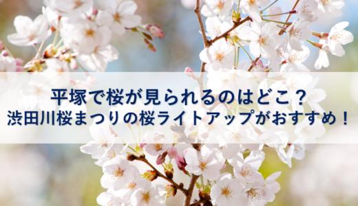 平塚で桜が見られるのはどこ?渋田川桜まつりの桜ライトアップがおすすめ!