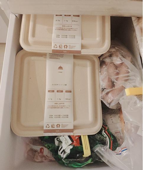 noshを冷凍庫に入れた様子