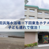 鍋田浜海水浴場で遊んで下田東急ホテルに宿泊!子連れでも大丈夫?
